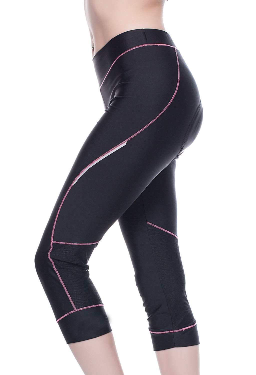 Bicycle Pants Women - 4ucycling Premium 3d Padded Breathable 3/4 Cycling Tights - Maximum Comfort to the Thighs - Great for Competitive - Leisure Cycling - 100% Satisfaction Guaranteed