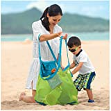 CCINEE® Large Mesh Beach Tote Bag Sand Away Toys Storing