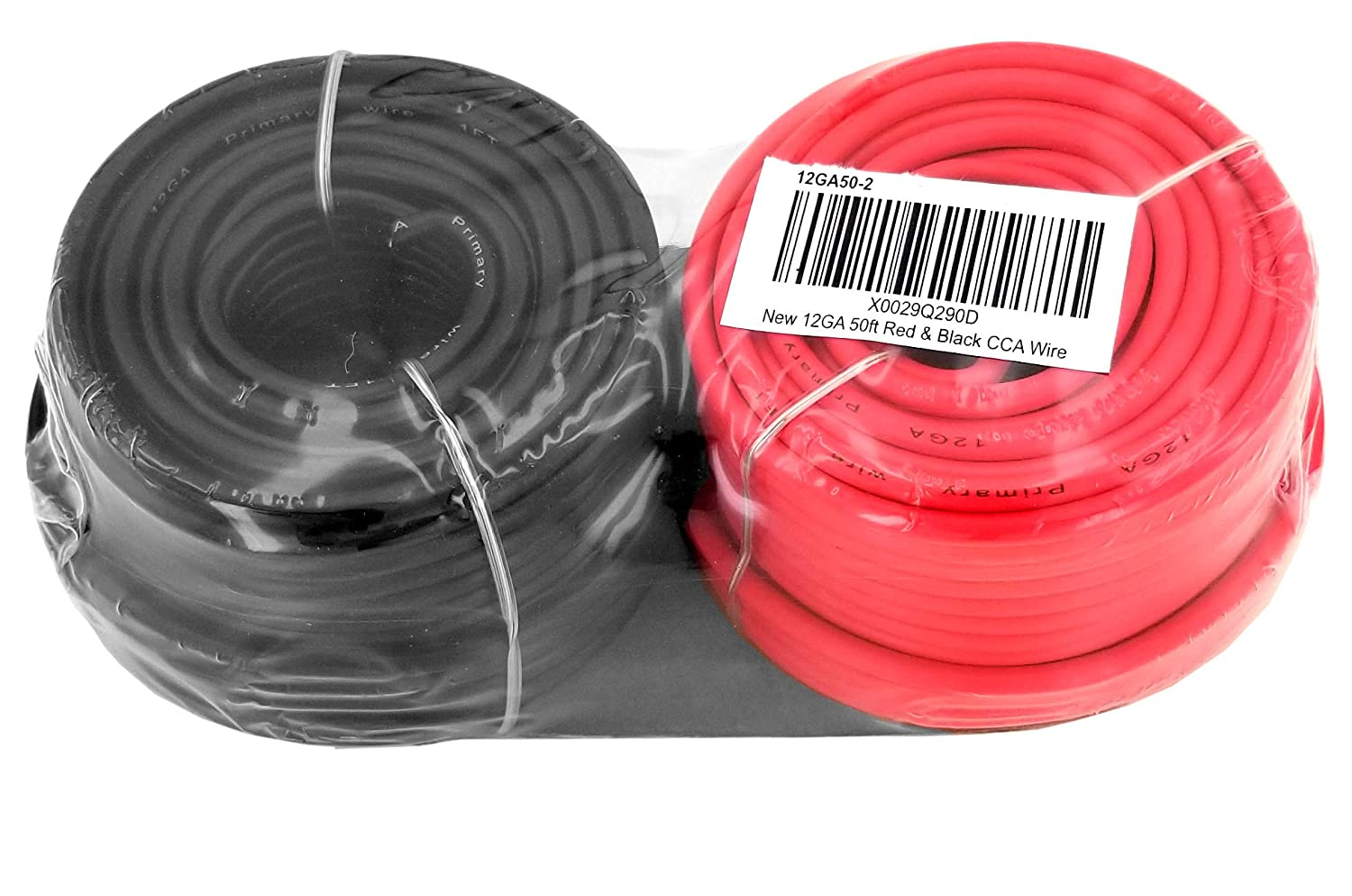 50 ft Red /& 50 feet Black GS Power 12 Gauge Stranded Flexible Copper Clad Aluminum CCA Primary Automotive Wire for Car Stereo Amplifier 12Volt Trailer Harness Hookup Wiring