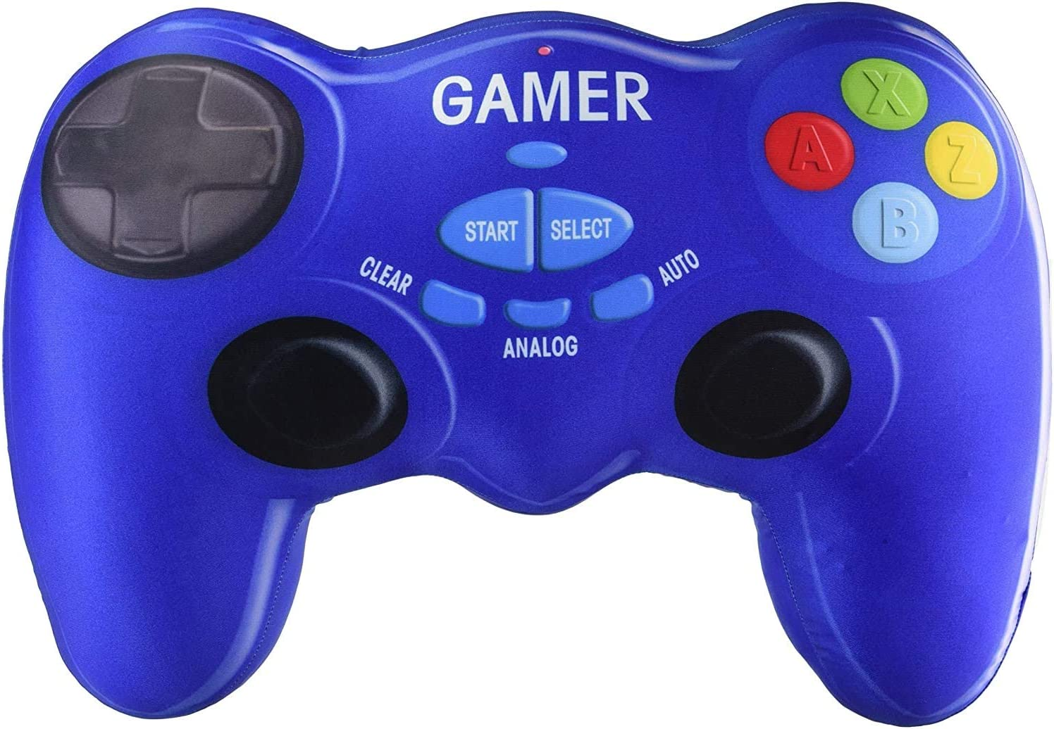 """iscream Game On! Bubble Gum Scent Video Game Controller Shaped 9"""" x 6.75"""" Mini Pillow"""