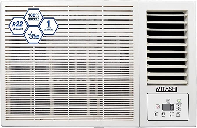 Mitashi 1.5 Ton 3 Star Window AC (Copper, MiWAC153v35, White)