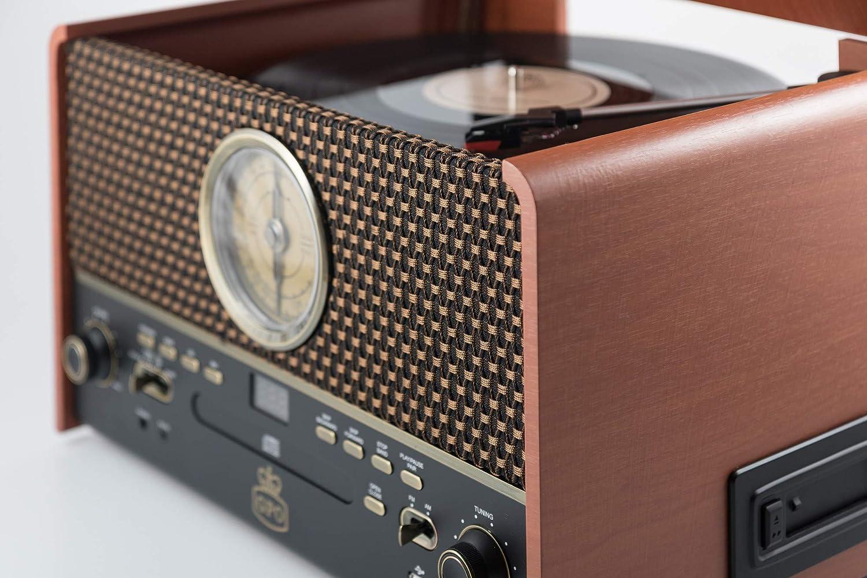 GPO Chesterton Record Player Retro 5-en-1 Music Center con ...