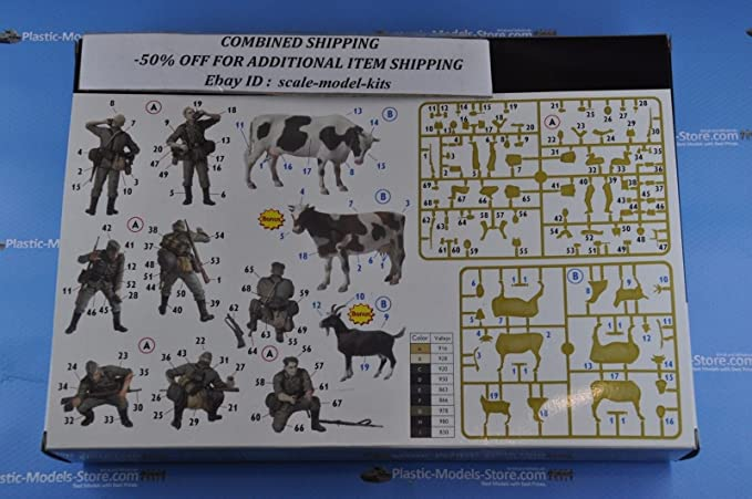 Amazon Com Operation Milkman 4 Germans With Cow 1 35 Master Box