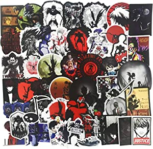 Cool Anime Stickers for Water Bottle, Teen Girls Laptop Phone Luggage Guitar Notebook Bike Computer Vinyl Decal, Trendy Stickers for Kids Skateboard Helmet (Death Note)