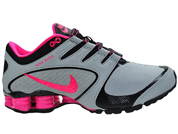 factory authentic 0965f 1a08e ... germany amazon nike womens shox vaeda wolf grey vivid pink black  synthetic running shoes 7.5 m