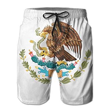 318a8bb257 Amazon.com: MALAA Mens Mexico Flag Colorful Painting Summer Quick-drying  Swim Trunks Beach Shorts Board Shorts: Clothing