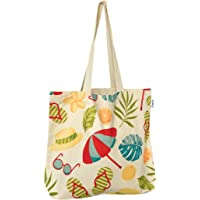 JAZABELLE - Reusable Canvas Tote Bags with Inner Pocket - Grocery, Gym, Library, Work, Uni, Shopping, Picnic and Brunch…