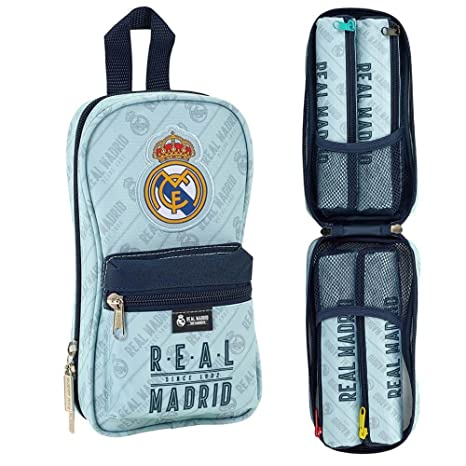 Safta Neceser Con 4 Estuches Real Madrid Corporativa Oficial 120x50x230mm