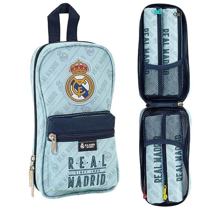 Safta Neceser Con 4 Estuches Real Madrid Corporativa Oficial 120x50x230mm