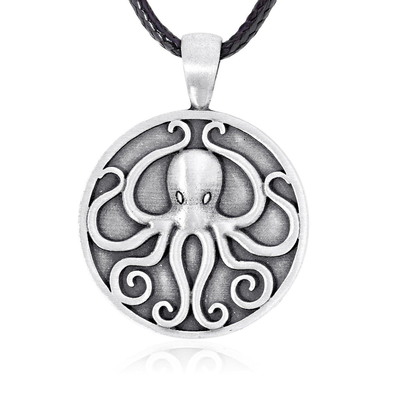 Dan's Jewelers Cthulhu Octopus Pendant Necklace, Fine Pewter Jewelry Dan' s Jewelers 2006