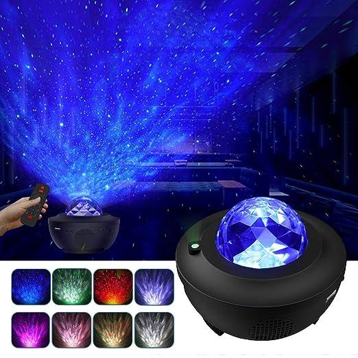 LBell Lámpara Proyector Estrellas & Océano 2 in 1, Lámpara ...