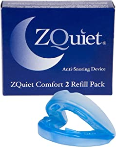 ZQUIET Anti-Snoring Mouthpiece Solution, Comfort Size #2 (Single Device, No Storage Case) - Made in USA & FDA Cleared, Natural Sleep Aid, Dentist Designed Oral Appliance