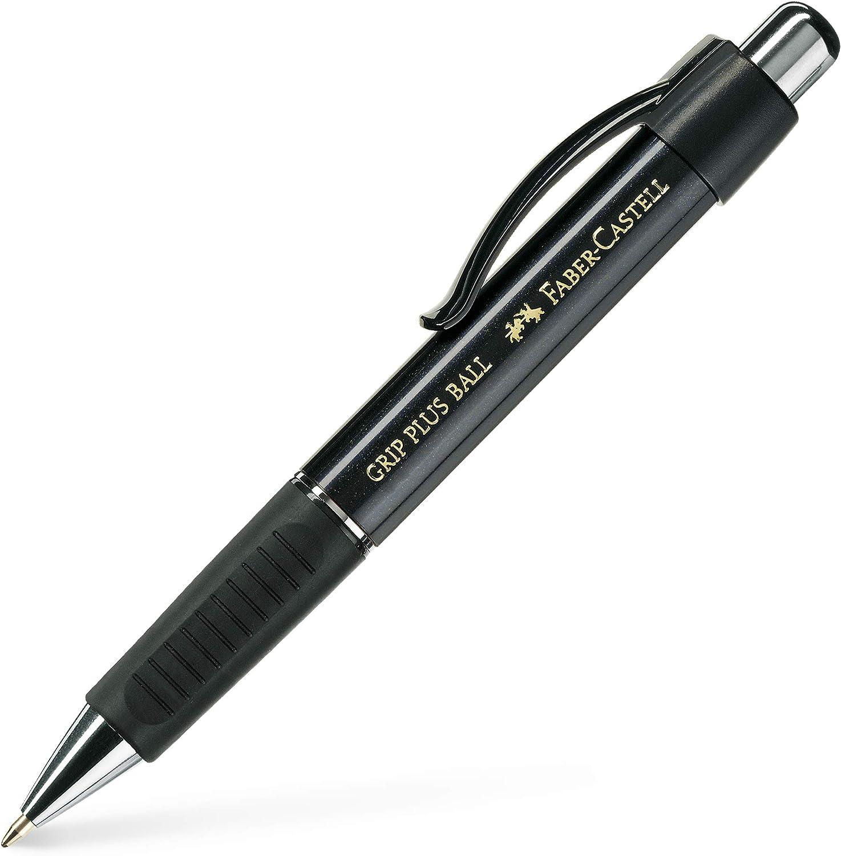 Kugelschreiber GRIP PLUS BALL M schwarz Faber-Castell 140733