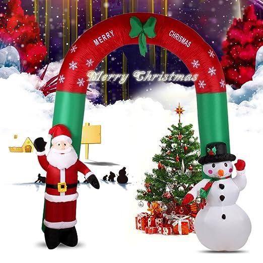 Reino Unido stock} 7,9 pies hinchable de Papá Noel y muñeco ...