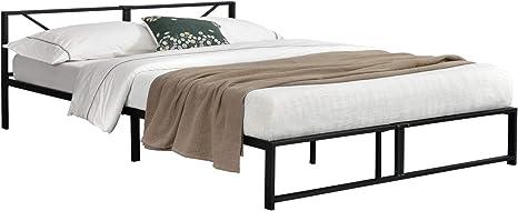 Metallbett mit Matratze 180x200cm Bettgestell Design Bett Schlafzimmer Metall