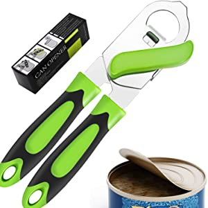 Can Opener Manual, Can Openers Hand Held With Smooth Edge, Bottle Opener, Tin Opener ,Multifunctional Stainless Steel Cutter Opener Easy To Use For Home Kitchen Tools
