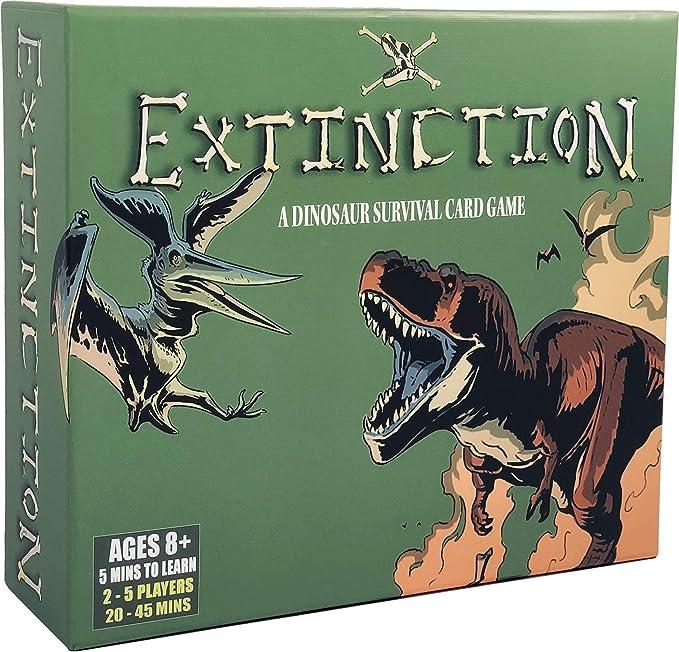 Extinction – Juego de Mesa de Dinosaurio estratégico – Juego de Cartas de Supervivencia Battle Royale y Supervivencia – para Adultos, Adolescentes y niños, Noches de Juego Divertidas: Amazon.es: Juguetes y juegos
