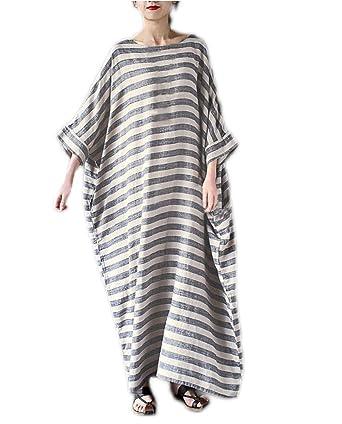 HX fashion Faldas Largas Mujer Verano Elegante Cuello Redondo ...