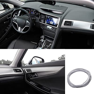 ATMOMO 5M Flexible Trim for DIY Automobile Car Interior Exterior Moulding Trim Decorative Line Strip (Silver): Automotive