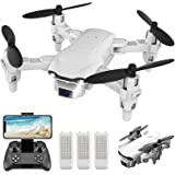 4DRC V9 Mini Drone with Camera for kids beginners,720P HD FPV Live Video Camera,3 Batteries,RC Quadcopter Helicopter Toys Gif