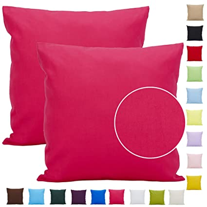 105d56cd4f Cuscino decorativo in cotone leggero tinta unita per divano: Amazon.it:  Casa e cucina