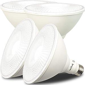 AmeriLuck Outdoor Dimmable PAR38 LED Flood Light Bulb, 100W Equiv. 1050 Lumens 13W (5000K | Daylight, 4 Pack)