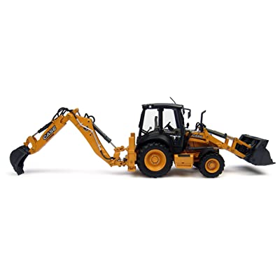 Case 580 ST Backhoe Loader, Features Include:, Diecast Metal Construction Some Plastic Parts, Nicely Detailed Mirrors, Lights Wipers, Detailed Operators cab seat Controls, Realistic Hydraulics and: Toys & Games