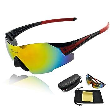 Lixada Lunettes de Soleil de VTT Sport Adulte Coupe-vent UV Protection en Plein Air pour le Moto le Cyclisme wUhRIm