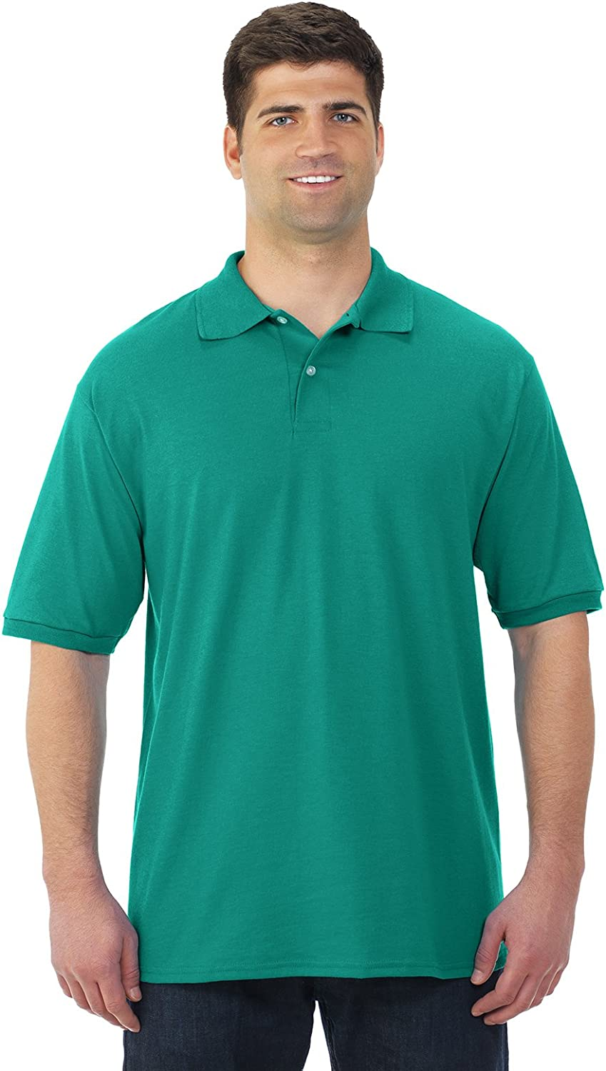 Jerzees 437M Adult 50-50 Cotton and Polyester Sport Shirt44; Kelly44; Small