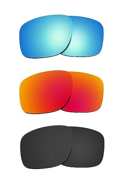90116e059f2 Littlebird4 3 Pairs 1.5mm Polarized Replacement Lenses for Oakley Sliver  Sunglasses (Black   Orange