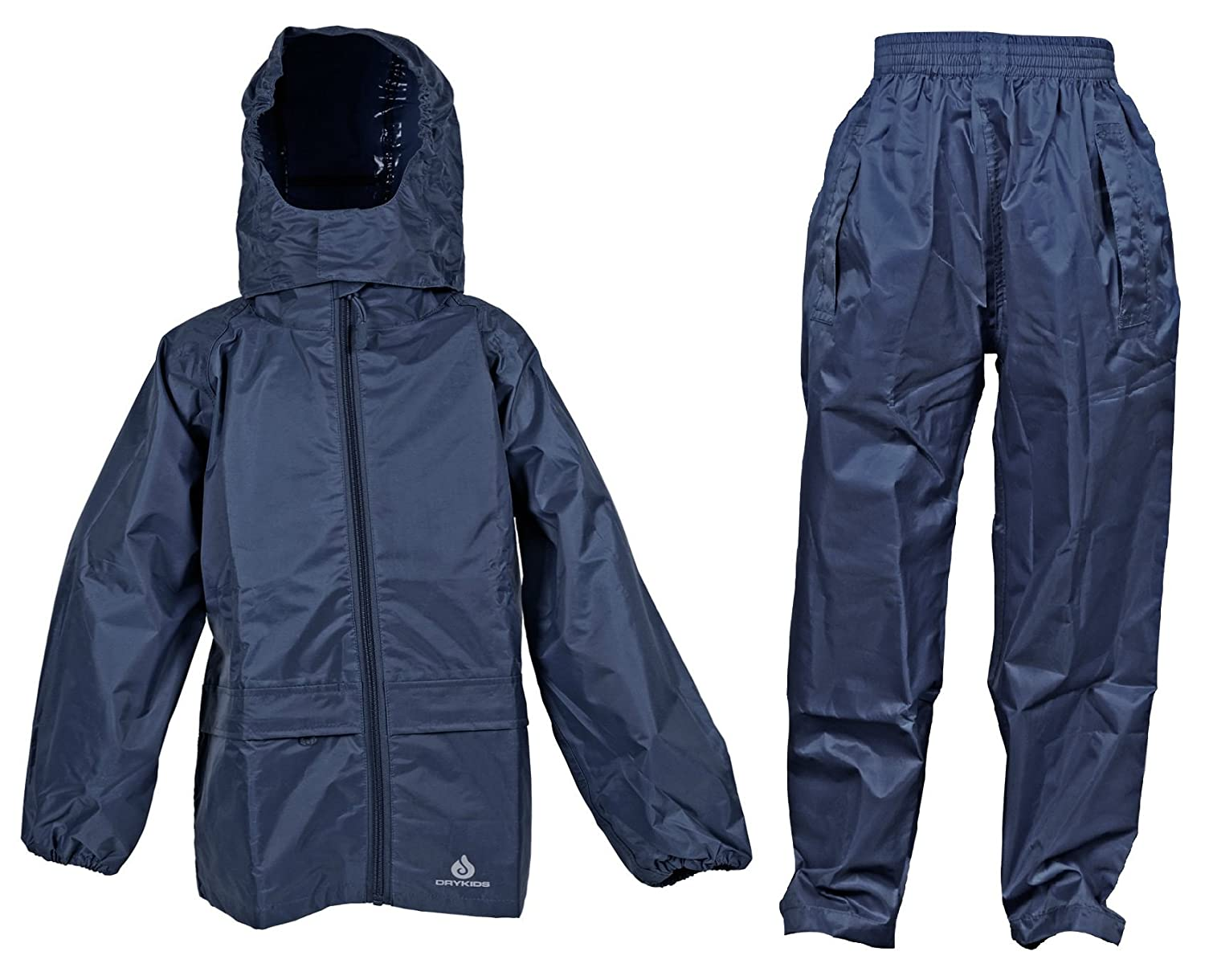 DRY KIDS Adult Waterproof Jacket and Overtrousers Set. Rainwear for Men and Women. Navy, Royal and Green. Pink is also available in the Womens category