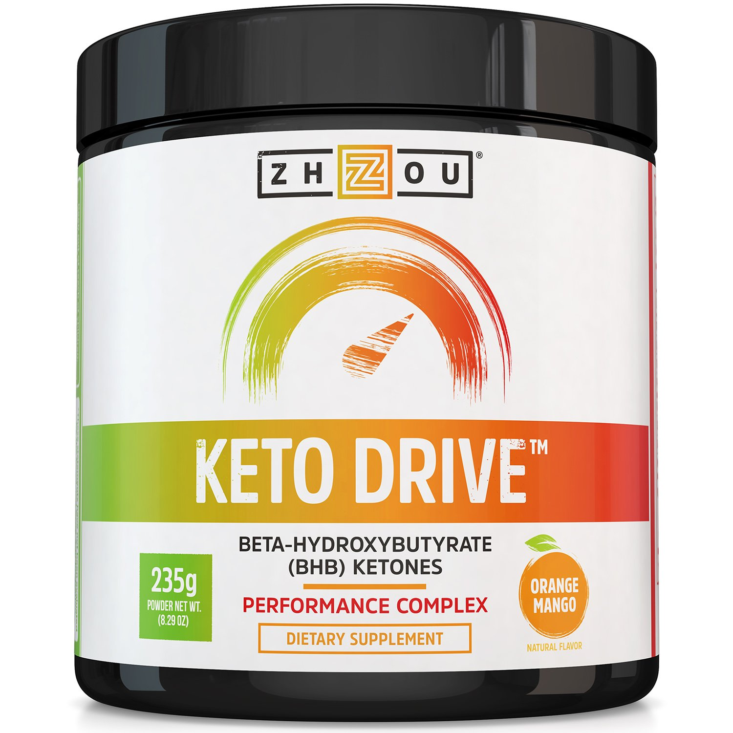 Keto Drive BHB Salts - Exogenous Ketone Performance Complex - Formulated for Ketosis, Energy and Focus - Patented Beta-Hydroxybutyrates (Calcium, Sodium, Magnesium) - Orange Mango by Zhou Nutrition
