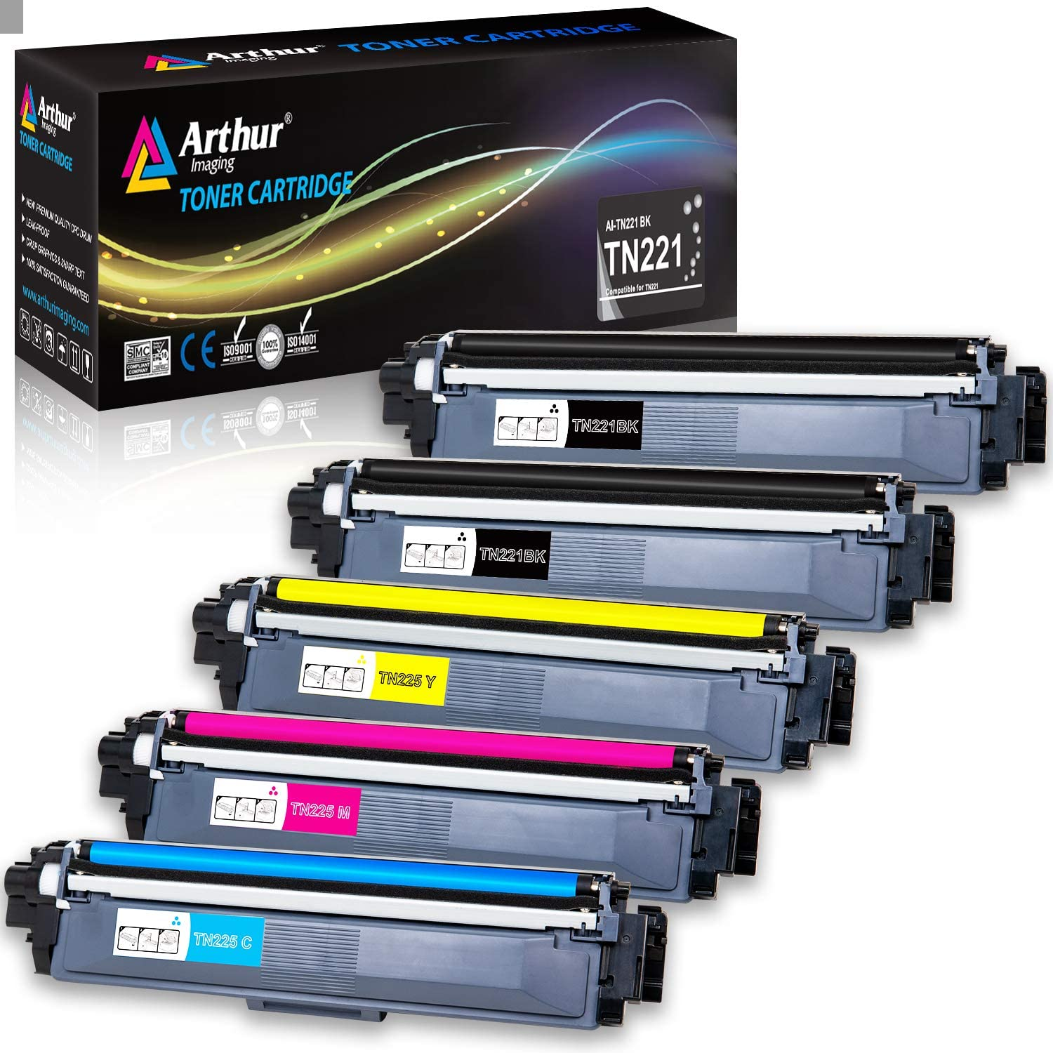 Ink /& Toner USA Compatible Toner Replacement for Brother TN221BK 9340CDW Works with: HL 3140CW Black 3170CDW; MFC 9130CW 9330CDW