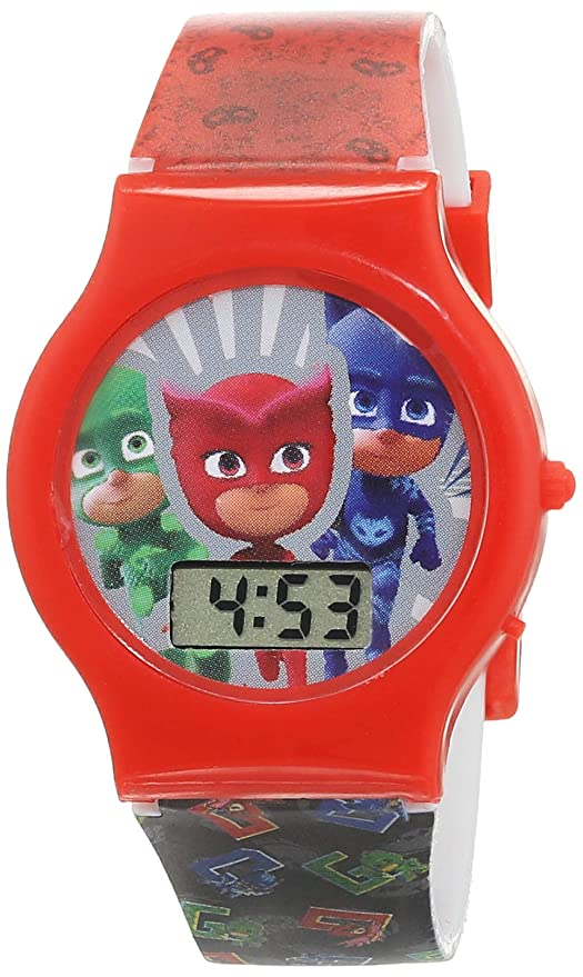 Diakakis 000484053 - Reloj Digital con Máscaras PJ, Multicolor