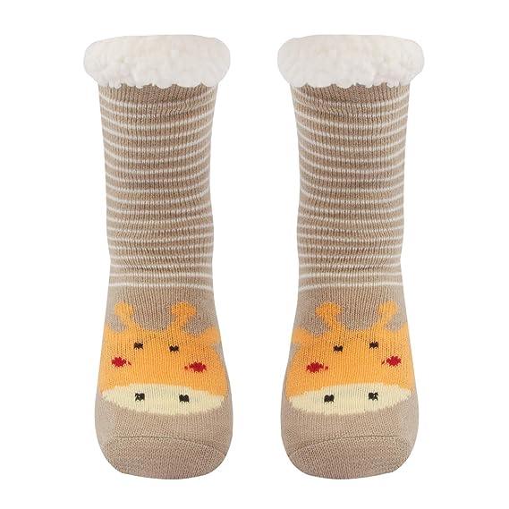 Conysan Gruesos cachemira lana calcetines de piso, casa abrigados calcetines de mujeres, antideslizantes tejidos calcetines de alfombra (Amarillo): ...