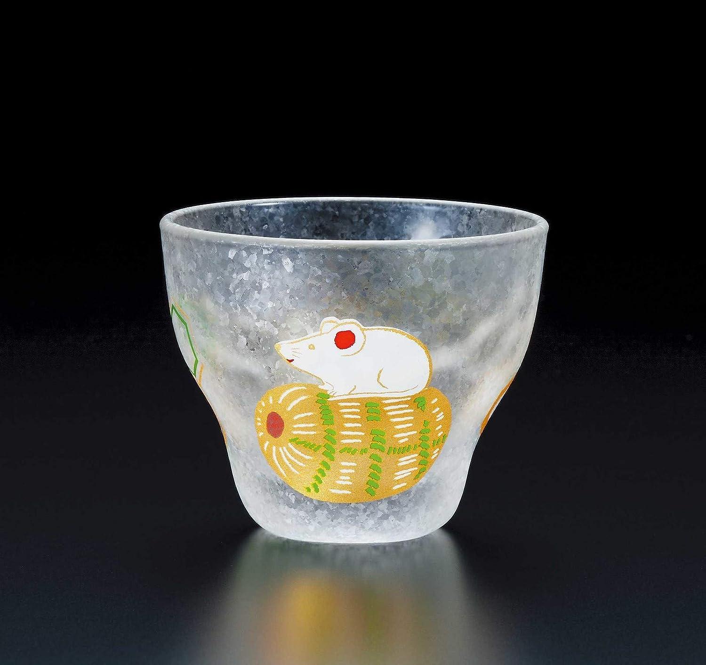 ADERIA Auspicious Japanese Small Glass Mouse 90ml