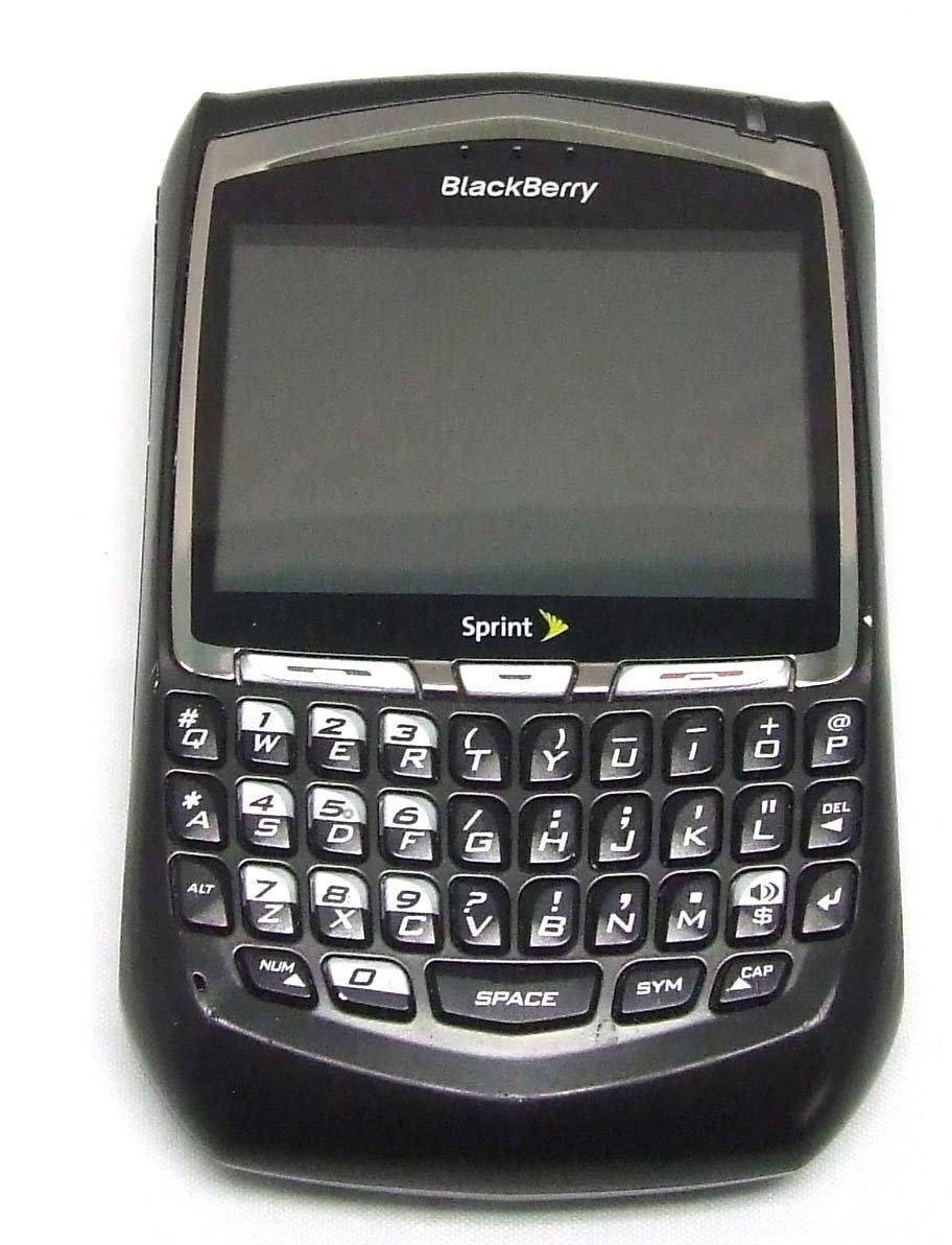 amazon com blackberry 8703e phone sprint pcs electronics rh amazon com BlackBerry Curve 5 BlackBerry Curve 5