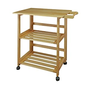 Casual Home 372-30 Trek Folding Natural Kitchen Cart