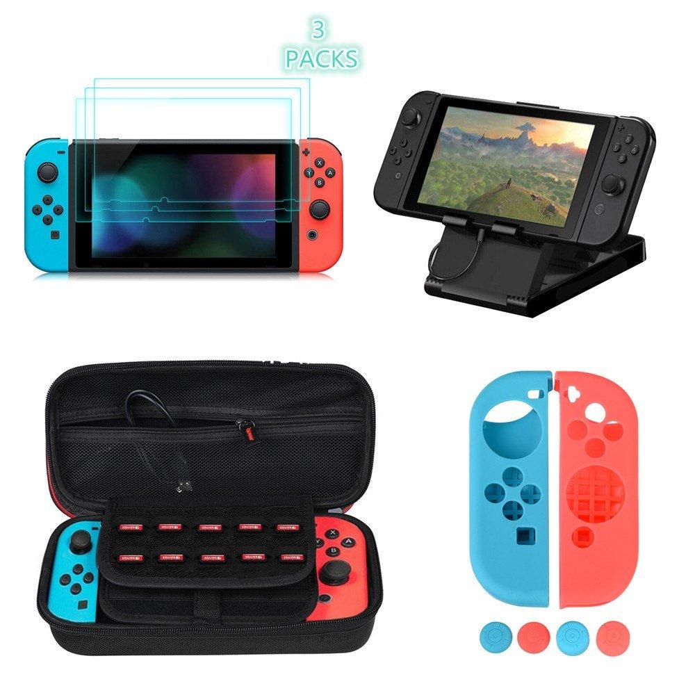 Kit Protección para Nintendo Switch, moonlux Funda Switch Accesorios de...