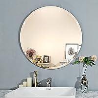 Creative Arts n Frames Elegant Round Frame Less Beveled Mirror for Dressing, Bedroom,Bathroom, Living Room (12x12)