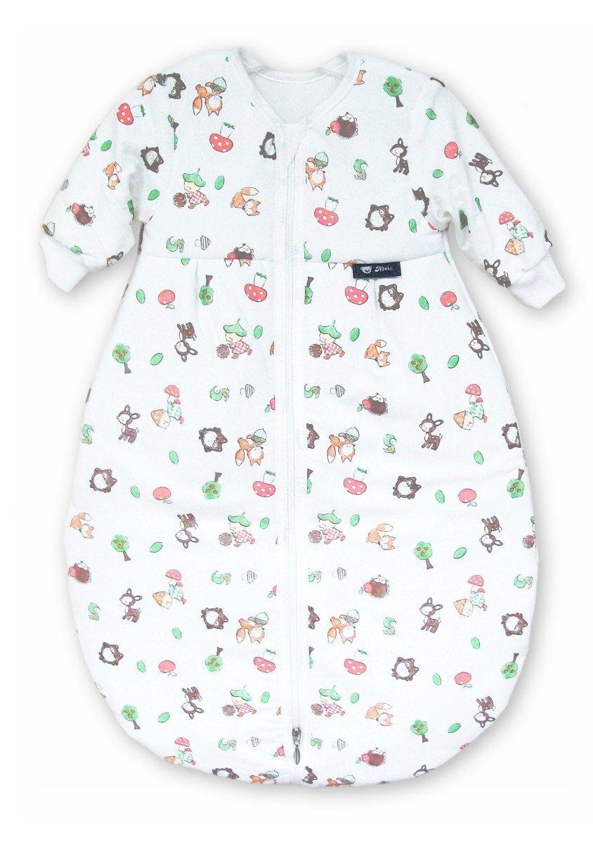 Alvi Schlafsack Mäxchen Thermo mit Arm   Babyschlafsack, Größe:70, Design:Silver Stars silbergrau 786-9 Größe:70
