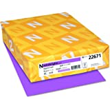 "Astrobrights Color Paper, 8.5"" x 11"", 24 lb / 89 gsm, Planetary Purple, 500 Sheets"