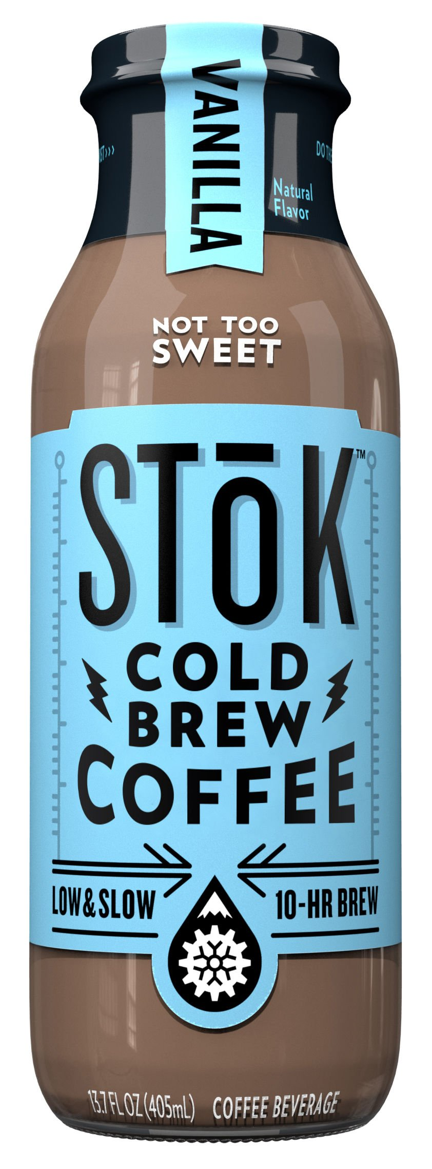 SToK Cold Brew Iced Coffee, Vanilla, 13.7 oz