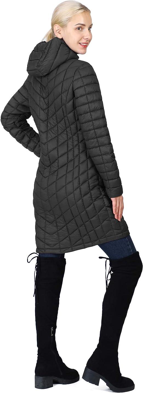 REVERSIBLE Handmade Insulated Hooded Long Jacket Puffer Coat Parka Light TFC2
