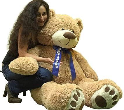 92b3b1e0e49 Big Plush Custom Personalized Giant Teddy Bear 5 Feet Tall - Your Name or  Message Imprinted