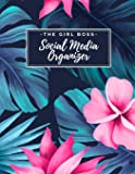 The Girl Boss Social Media Organizer: Weekly Social Media Post Planner & Content Calendar - Keep Track of All Your Accounts - Cute Hawaiian Tropical Leaves 8 Weeks - Large (8.5 x 11 inches)