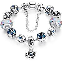 """A TE® Bracelet Charms Femmes """"Fleur Merveilleuse"""" L'emballage Cadeau #JW-B107"""