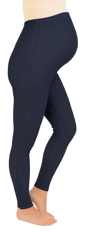 Denim Look Maternity Leggings Over-the-Bump (Jeggings/ Trousers) - Short Leg 28