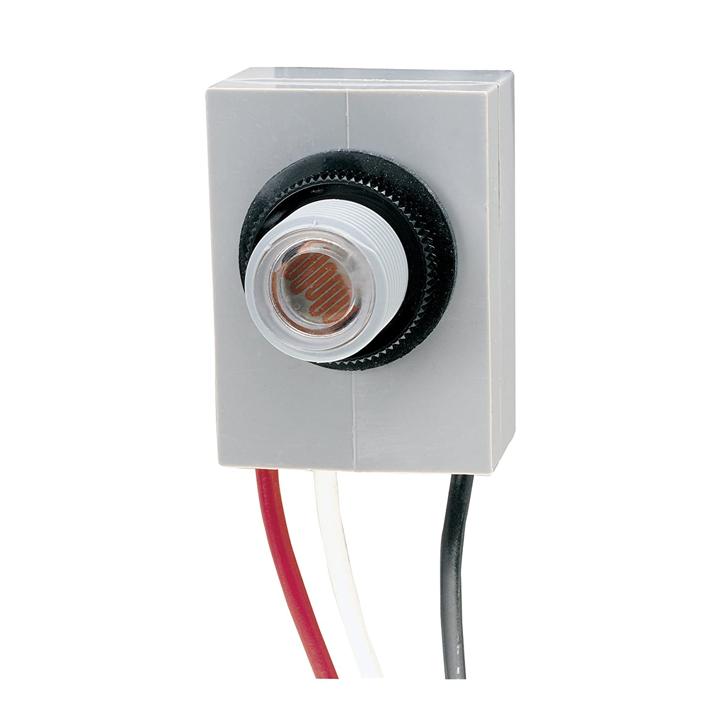 intermatic k4023c 208 277 volt fixed position thermal photocontrol rh amazon com Photocell Sensor Circuit Diagram Wiring Photocell Light Control