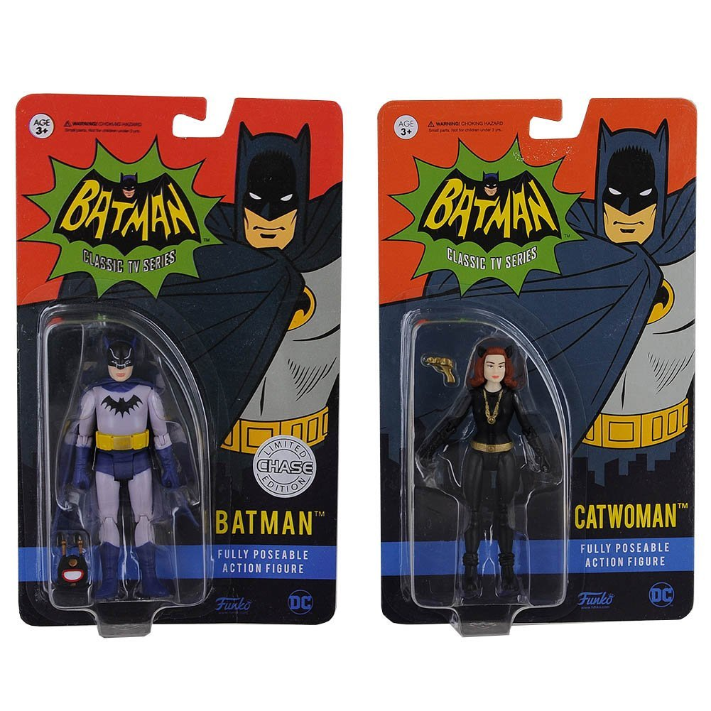 2 Items Funko Action Fusion Apparel DC Heroes Batman /& Catwoman Toy Figure Bundle